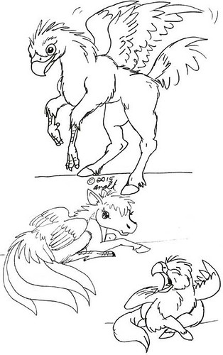Inktober 10.23.15 - Hippogriff Babbies!
