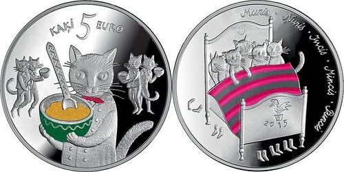 2015 Latvia 5 Euro