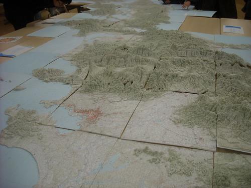 日本列島立体地図