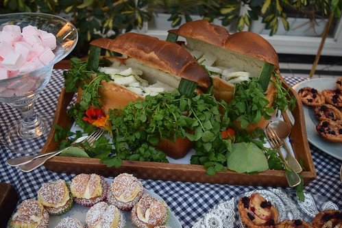 A chest of juicy sandwiches at Ballymaloe House afternoon tea.