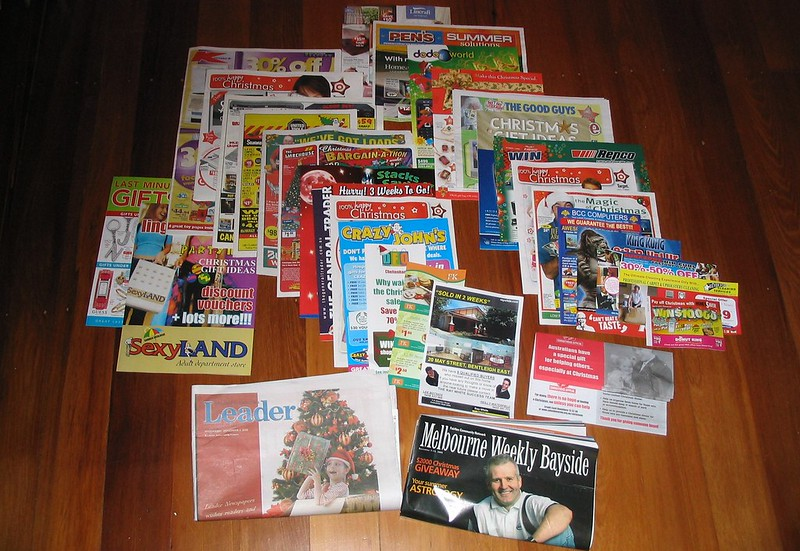 Junk mail received on one day, December 2005