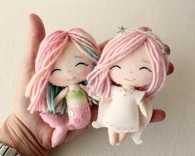 chibi mermaid and angel1