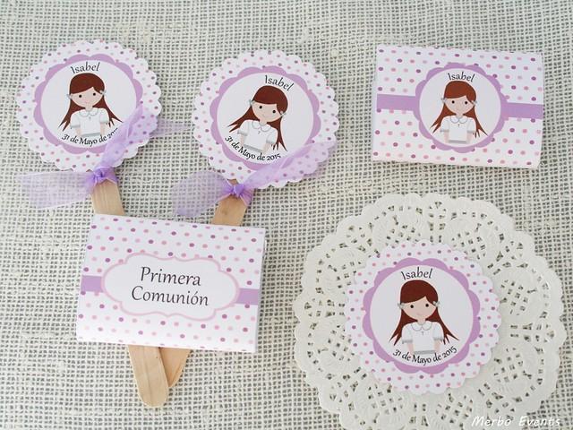 detalles imprimible comunión lila y rosa Merbo Events