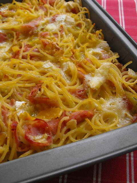 O que fazer a uma caixa de esparguete cozido?
