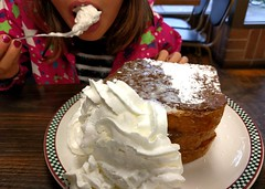 Digging straight in to the whipped cream