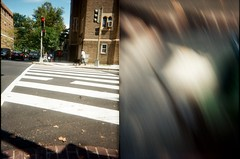 toy camera street photography by a 4 year old
