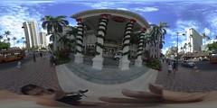 The Moana Surfrider Hotel in Waikiki  - a 360 degree Equirectangular VR