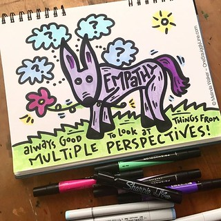 Seeing things from multiple perspectives is a big part of #visualthinking #creativity & #empathy @royzoner https://t.co/eOOytyeSMF
