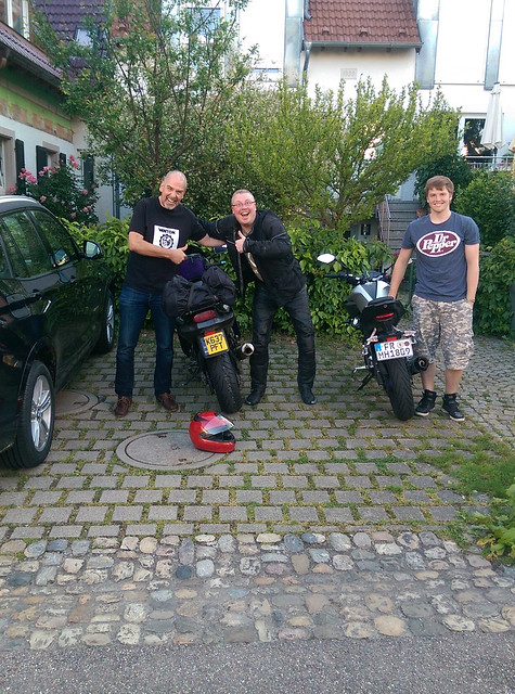 Collecting the ZZR from Germany.