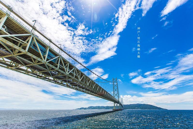 【8月 夏】 明石海峽大橋   16-821