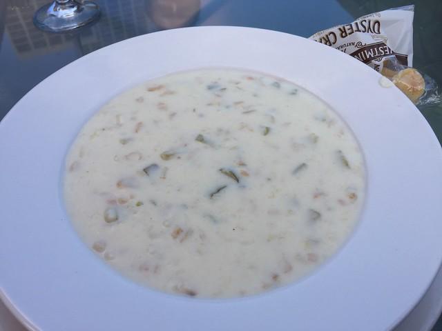 Creamy Boston clam chowder - Sinbad's Pier 2 Restaurant