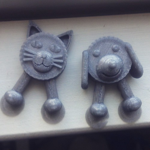 Companion piece to Designer EHM's Cork Puppy-- the Cork Kitty.  #3DPrinting