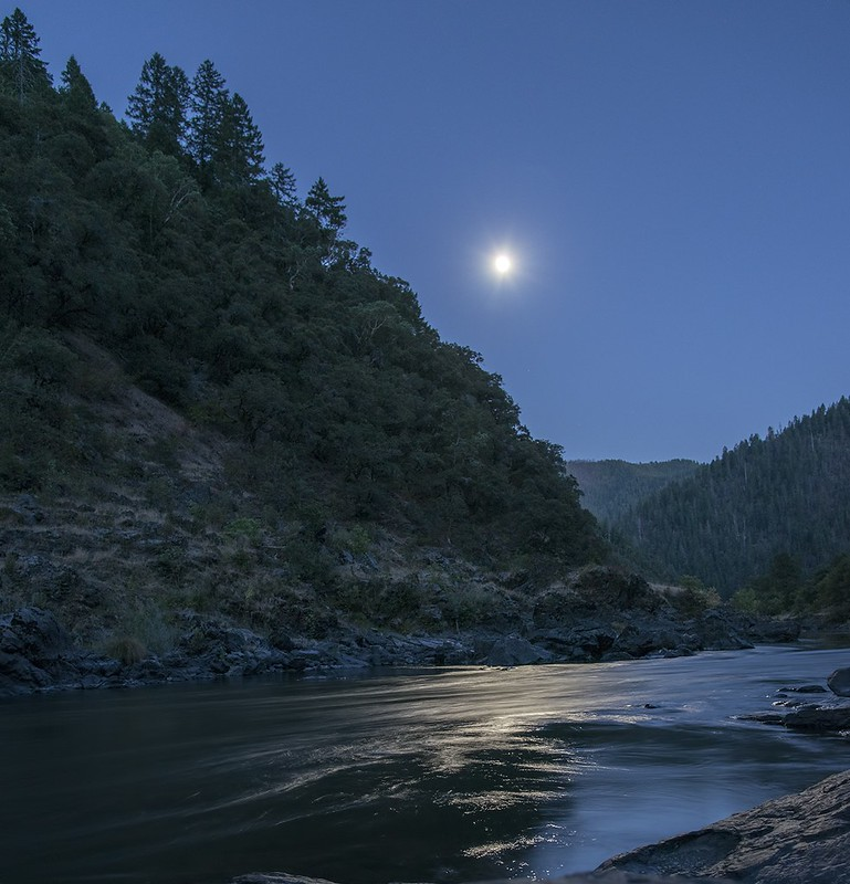 Rogue River moonrise