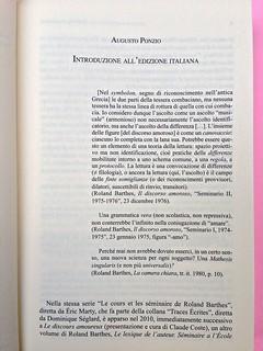Roland Barthes, Il discorso amoroso. Mimesis 2015. Introduzione all'ed. italiana, pag. 7 (part.), 1