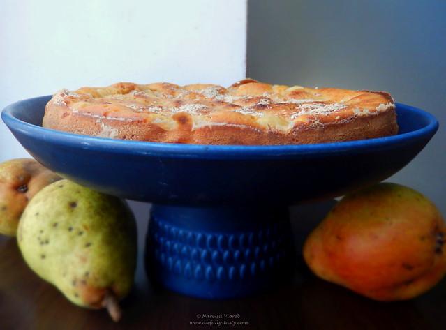 prăjitura cu pere si migdale