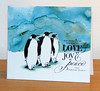 Pingouins avec Brusho turquoise 004
