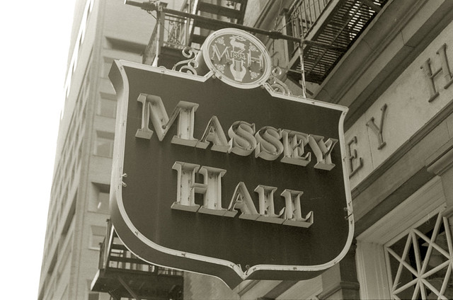 Massey Hall Sign