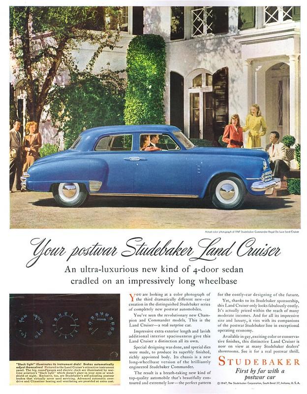 1947 Studebaker Commander Royal De Luxe Land Cruiser - published in Life - April 21, 1947