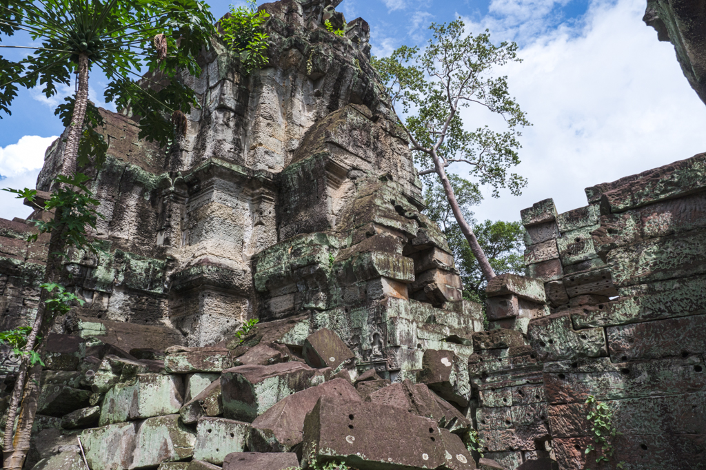 Preah Khan Temple rubble at Angkor Wat, Siem Reap, Cambodia-7