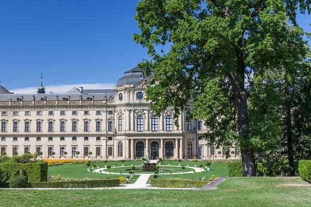 Würzburg Residence. Würzburg, Franconia, Bavaria, Germany