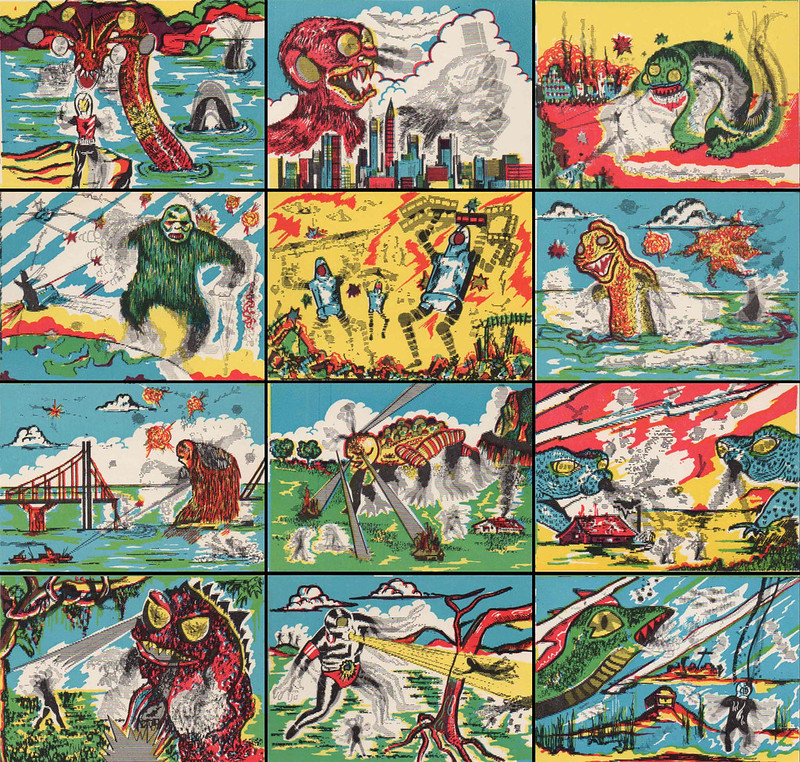 Monster Magic Action Trading Cards (1963) full set 1 of 2
