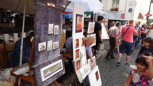 Paris Montmartre artists Aug 15 8