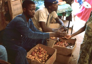 Kola Nut seller at a market in Kédougou, Southeast Sénégal,  December, 1981