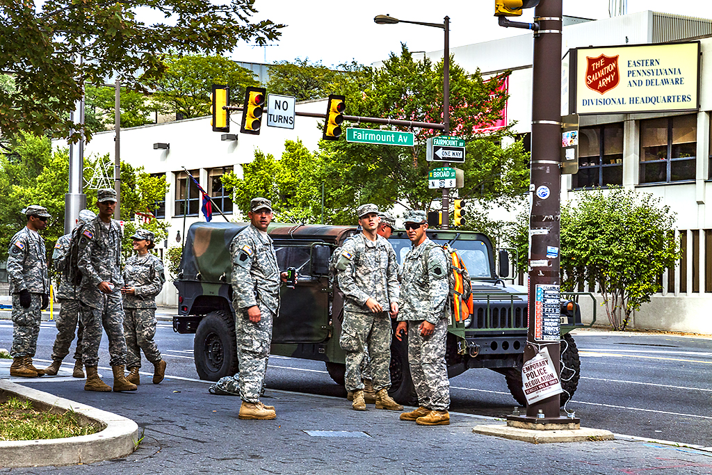 Soldiers for Pope Francis on 9-25-15--Broad and Spring Garden 2
