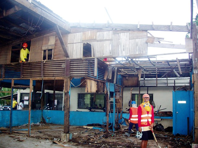 The Biliran Office of the Provincial Engineer sustained extensive damage during Super Typhoon Yolanda