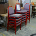 Metal framed banqueting chair