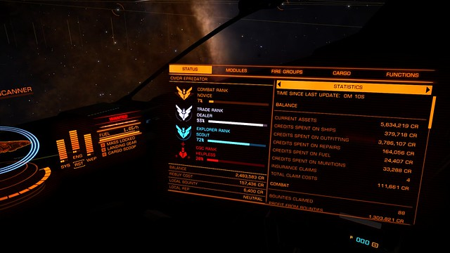 Start of a productive few hours on elite dangerous