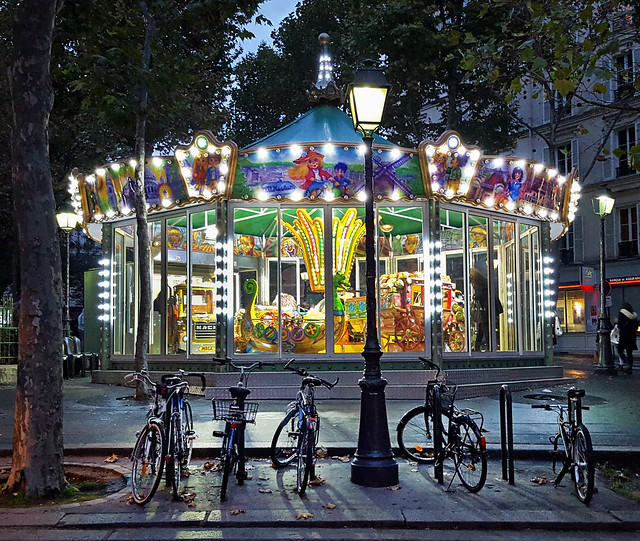 Carousel near Abbesses Metro station, Paris