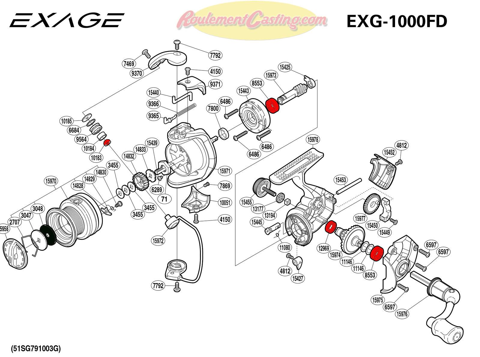 Schema-Shimano-EXAGE-1000FD
