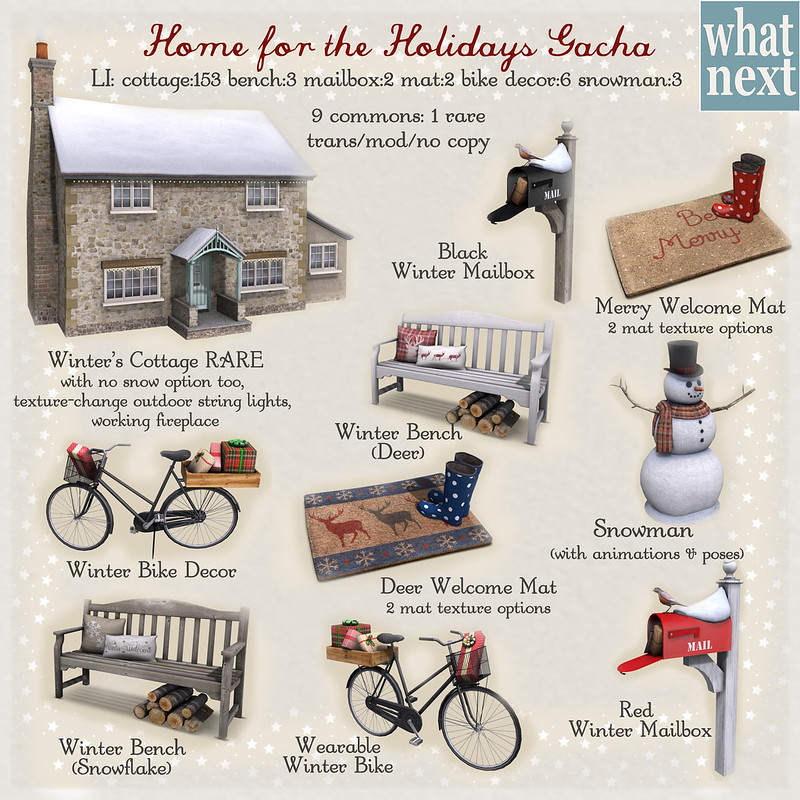 {what next} Home For The Holidays Gacha Key