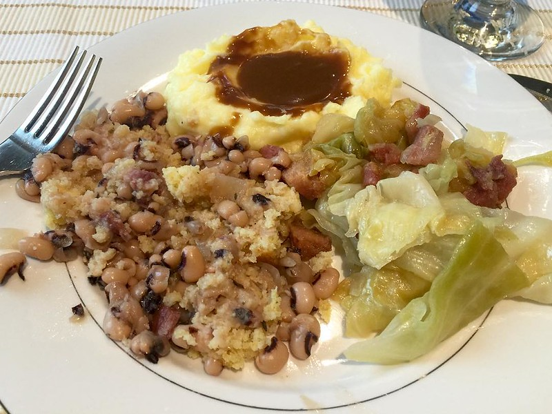Because it's New Year's Day - that means black eyed peas, cabbage and ham! #traditions #happynewyear #resolvetohashtagmorein2016