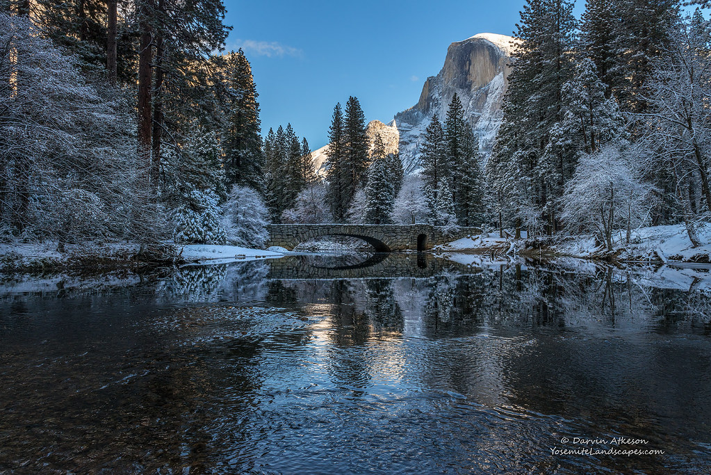 Winter Wonderland A Glowing Half Dome Rises Above The