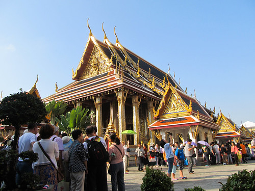 Bangkok: des groupes de Chinois, en veux-tu? En voilà! Et nous ne sommes qu'à l'ouverture!!