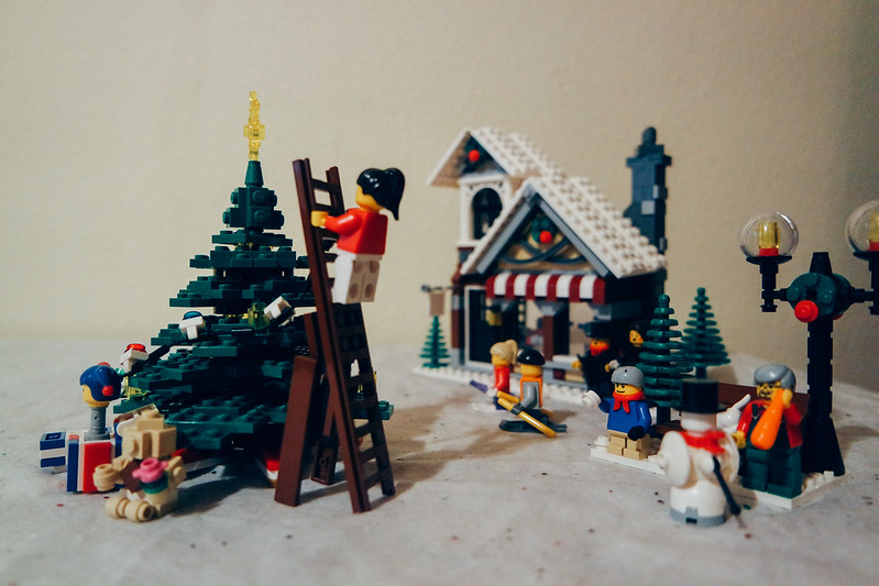 Day 88 time to build the Christmas village. #100HappyDays