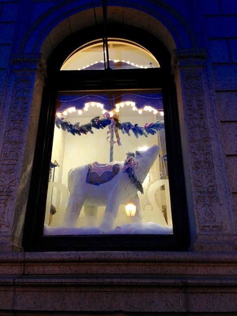 Anthropologie Holiday Window Polar Bear