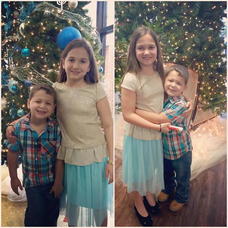 Christmas trees at church this morning!