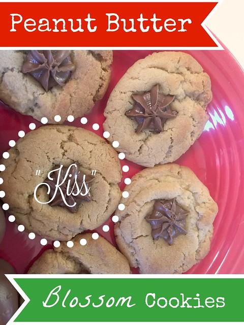 Peanut Butter Blossom Kiss Cookies