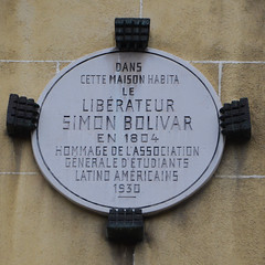 Photo of Simón Bolívar marble plaque