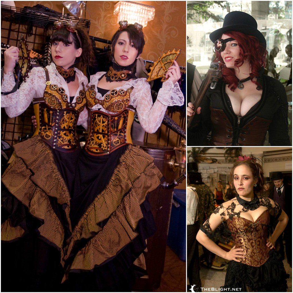Steampunk corsets: credit greylock, Steampunk Family the von Hedwig, Neil Girling.
