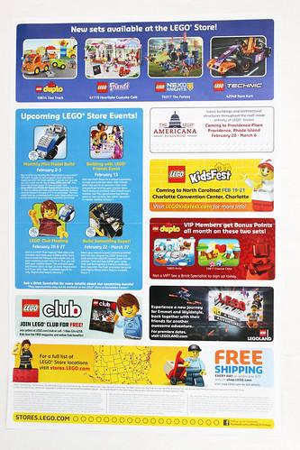 LEGO February 2016 Store Calendar