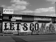 Lets Go Mets Painted On Roller Shutters; Corona, New York