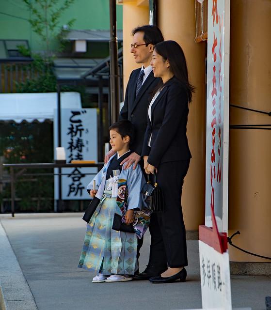 Photo:5th birthday male ceremonial thanksgiving, Ikukunitama Shinto Shrine, Tanamachikyuchome, Osaka, Japan.01 By Geoff Whalan