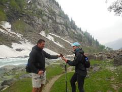 Spring trek in Himalayas Aru valley lidderwat valley