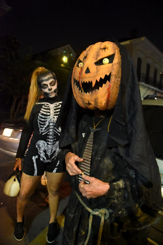 halloween festivities on frenchmen and in the french quarter
