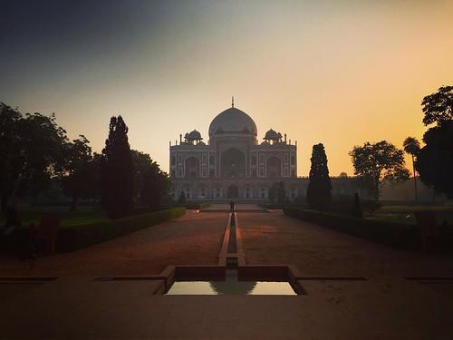 architecture morning sunrise dawn mughal iphone iphone6 incredibleindia apple delhi india megastructure grave humayun tomb