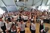 Die Tanzgruppe der Banater Schwaben Karlsruhe unter der Leitung von Heidi Müller und Werner Gilde